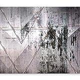 murando - Fototapete Beton 400x280 cm - Vlies Tapete - Moderne Wanddeko - Design Tapete - Wandtapete - Wand Dekoration - Abstrakt geometrisch grau a-A-0349-a-a