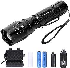 Didisky Torcia UV 2 in 1 LED Lampada + 395 NM Ultravioletti Blacklight mano lampada Faretto UV Animali Urina Cane/Gatto Smacchiatore Rivelatore Con 1 x Caricabatteria e 2 x ricaricabile 18650 agli ioni di litio batterie