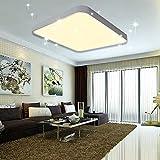 VINGO® 60W LED Deckenleuchte Warmweiß Sternenhimmel Wohnzimmerlampe Küchenleuchte Deckenbeleuchtung Panel Lüster Ultraslim Schlafzimmer Esszimmer energiesparend