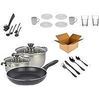 """Ménage Kit de démarrage """"Single"""" – Kit de démarrage – Kit de décoration – (cuisine, couverts, vaisselle)"""