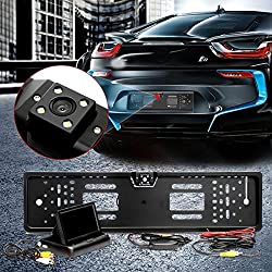 Audew Rückfahrkamera Rückansicht 4.3''Monitor Einparkhilfe& Rückfahrsystem