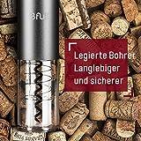 Korkenzieher Elektrisch von Bfull 2 Stück Opener umfasst automatische Weinöffner, Luftdruck Wein Öffner, Vakuum Stopper (2pcs), Folienschneider, Wein Belüfter Ausgießer - 3