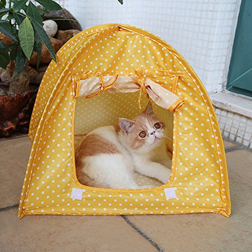 portable-foldable-cute-dots-pet-tent-playpen-outdoor-indoor-tent-for-kitten-cat-small-dog-puppy-kenn