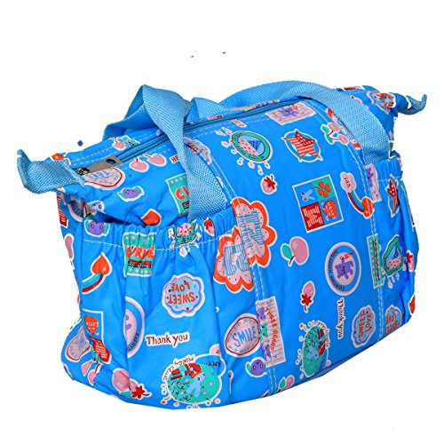 Kuber Industries™ Baby Diaper Nappy Changing Baby Bag Mummy Handbag In Baby Print Imported Material (KI19526)  available at amazon for Rs.599