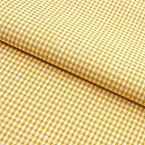 Hans-Textil-Shop Stoff Meterware, Vichy Karo 2x2 mm, Gelb,