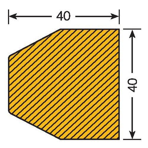 Praktische Panda 422.26.582.5422.26.582Traffic Line Impact Fassung Oberfläche Schutz, magnethaftend, Trapeze 40/40, Länge 1000mm, Gelb/Schwarz (5Stück)