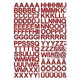Leicht anzubringende Buchstaben Aufkleber 4cm in rot glänzend - 150 HOCHWERTIGE KLEBEBUCHSTABEN - Buchstaben zum aufkleben abc Alphabet - Wasser und wetterfest ideal für den Außenbereich