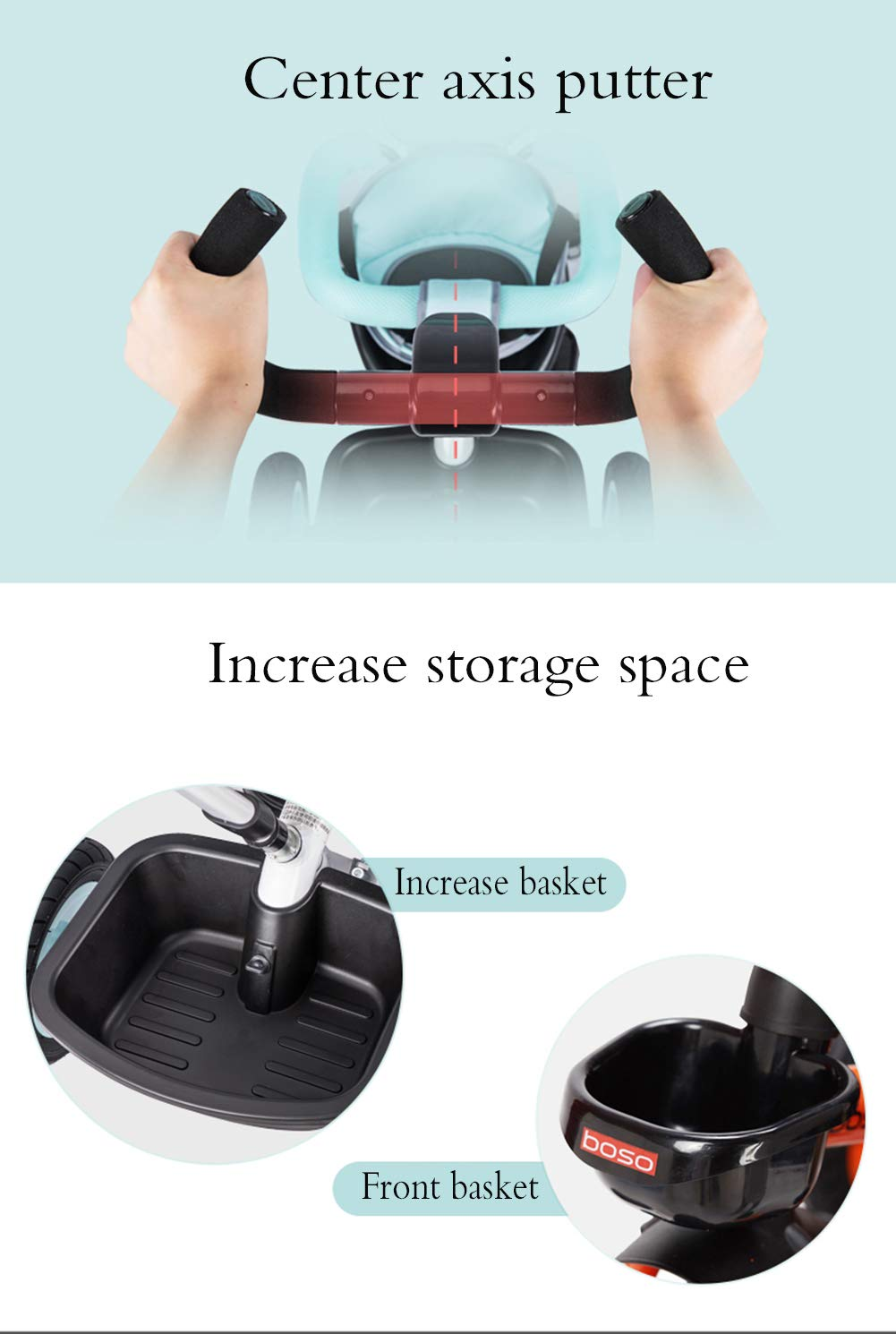 Children's Tricycle, Double-Sided Seat Stroller Adjustable Sun Visor Enlarged Storage Box Folding Pedal 3 to 6 Years Old Baby Indoor YYY ✅ 4-in-1 multi-function: two-way steering seat with push button unit. Push-pull, personalized putter multi-range adjustment putter to meet children of different heights, as the child grows, the tricycle can be adjusted to the fourth level. ✅ Durable material: This thrust tricycle is made of gem steel + environmentally friendly titanium empty wheel, with excellent strength, light resistance and anti-flaking adjustable awning. The tarpaulin material has a waterproof layer that blocks harmful ultraviolet rays, has a good sunscreen effect, and has mesh ventilation. ✅Safe design: The front wheel clutch has a two-stroke system. The steering linkage and quiet design effectively control the noise problems that may occur during implementation. Seat belt and guardrail and guardrail with double fixing pad 8