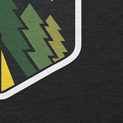 TEXLAB - Family Camping Forest Moon - Damen T-Shirt Schwarz