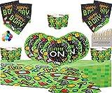 GAME ON Party Supplies Juego de decoración de Fiesta para Juegos de Video de 73 Piezas Que Incluye Platos, Tazas, servilletas, manteles, Globos Gratis y lápices de Colores Gratis para 16