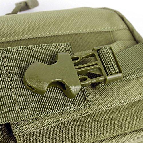 Erasky® Erasky Taktische Hüfttaschen Gürteltasche MOLLE EDC für Outdoorsport Multifunktionen Praktische Ausrüstung (Schwarz) Armee-Grün
