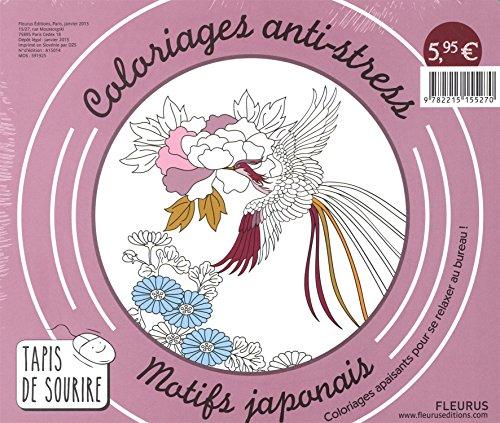 Coloriages anti-stress motifs japonais : Coloriages apaisants pour se relaxer au bureau ! par Fleurus