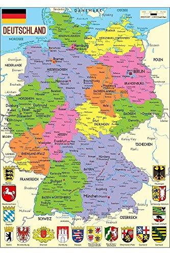 Puzzle Michele Wilson - Puzzle carte d'Allemagne länder - W73-50