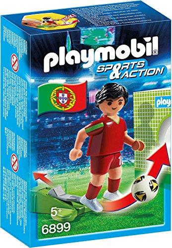 Unbekannt Playmobil 6899 - Fußballspieler Portugal & Cristiano Ronaldo (Panini-Sticker #130 WM 2018 Russia)
