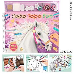 Top Model- Miss Melody, Libro de Colorear con Cintas de enmascarar (0010470), (DEPESCHE 1)