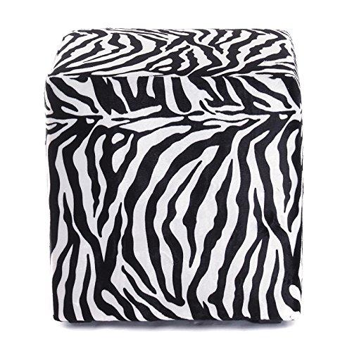 DESIGN SITZWÜRFEL WILDLIFE   40x40x40 cm, Tierfelloptik, Zebra, schwarz, weiß   Sitzhocker