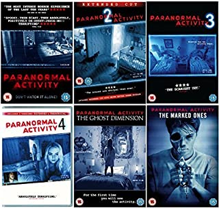 Paranormal Activity Quadrilogy Complete DVD Collection 1-4 Paranormal Activity: The Marked Ones Paranormal Activity: The Ghost