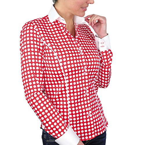 chemise a pois dots rouge Rouge