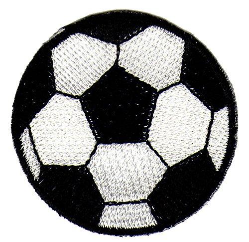Balón de fútbol blanco y negro parche plancha de