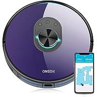 ONSON Saugroboter, Staubsauger Roboter mit SLAM Mapping Lasernavigation, Kompatibel mit Alexa&Google, 150Min Lange…
