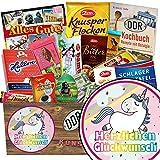 Herzlichen Glückwunsch Einhorn | Schokolade Paket | Geschenkideen | Herzlichen Glückwunsch Einhorn | Geschenk Einhorn Erwachsene | Einhorn Deko Geburtstag | mit Viba, Zetti und mehr