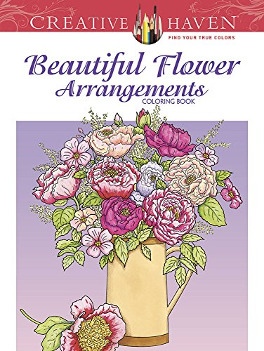 Pansy Bouquet (Creative Haven Beautiful Flower Arrangements Coloring Book)