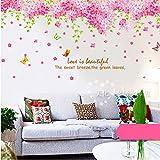 Garwarm Modische Moderne Kreative Abnehmbare Dekorative Wall Art Aufkleber Wandbild für das Home-Office Mädchen- Bzw Kinderzimmer Wohn- und Schlafzimmer-Große Rosa Kirschbaum