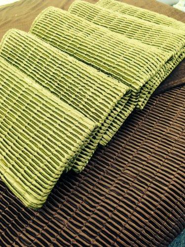 Hilden Bettläufer, gerippt, Hotel-Stil, 65 x 200 cm, Grün