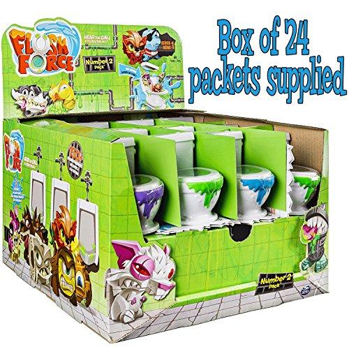 Flush Force Serie 1 Sammelfiguren - Schachtel mit 24 zufälligen Anzahl 2 Pakete (24 Toiletten) -