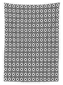 marokkanisch inspirierte möbel kommoden yeuss marokkanische tischdecke arabisch monochrome muster oriental architektur inspiriert design oval symmetrischen esszimmer küche tisch