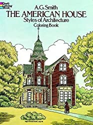 THA AMERICAN HOUSES STYLE OF ARCHITECTURE. Coloring book