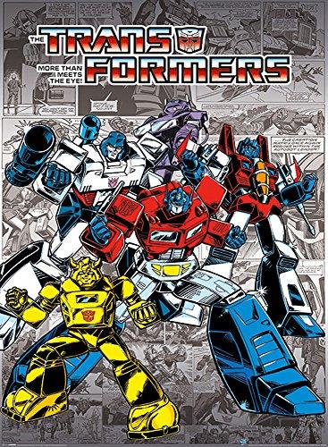 AWDIP Official Transformers G1 Retro Comics Poster 91.5 x 61cm Optimus Prime Megatron