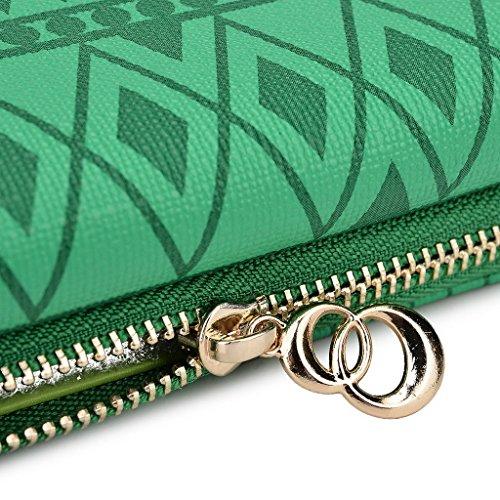 Kroo Pochette/Tribal Urban Style Téléphone Housse pour Asus PadFone Noir/blanc vert