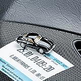 Magnetischer Parkscheinhalter für das Armaturenbrett – Modellauto mit Magnet und selbstklebender Haftscheibe – Kultauto Porsche 356 A schwarz