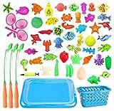 JKLYZXS Kinder Magnetic Fishing Toy Bildungs-Fischen-Spiel-Aktions-Spielwaren Eltern-Kind-Fischen...