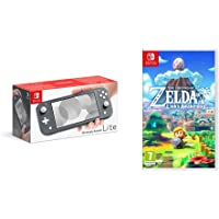 Nintendo Switch Lite - Grey + Legend of Zelda: Links Awakening Standard Edition