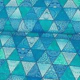 Stoffe Werning Baumwolljersey Digitaldruck Dreiecke mit