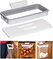 MAX Home Hanging Kitchen Cupboard Door Back Style Stand Trash Attach Holder Garbage Bags Storage Rack Accessories