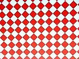 Melody Jane Puppenhaus rot & Weiß Fliesen Effekt Papier Miniatur 1:12 Fußboden Seitenschneider
