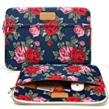 CoolBell 15.6 Inch Laptop Sleeve Case Cover With Peony Flower Pattern Ultrabook Sleeve Bag For Ultrabook like Macbook Pro/Macbook Air/Acer/Asus/Dell/Lenovo