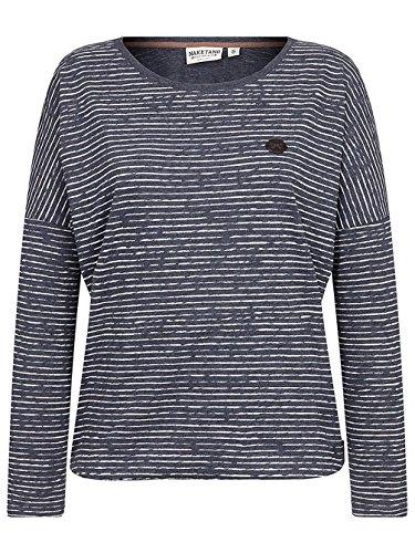 Naketano Female Sweatshirt Zeich ma Titten indigo blue melange