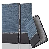 Cadorabo Coque pour Sony Xperia X Performance en Bleu FONCÉ Noir - Housse Protection...