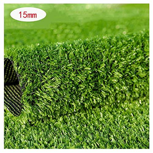 Artificial Lawn XIAODONG 15mm Gefälschter Gras-Teppich Wasserdichtes Kunstrasen Reißfest Verwendet In Der Aufbaudach- / Balkon- / Im Freiendekoration (Size : 2 * 20m)