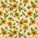 Dekostoff Natur – Sonnenblume — Meterware ab 0,5m —
