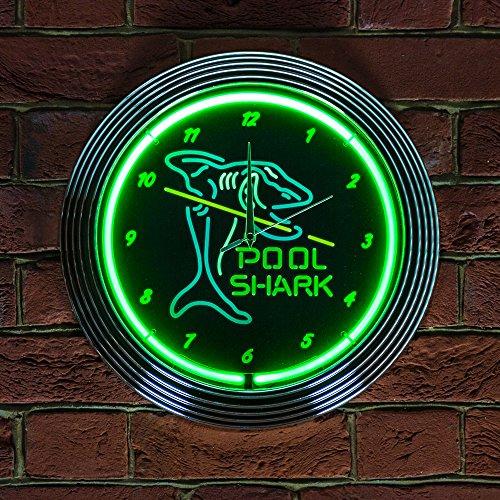 pool-shark-neon-clock-240v-3-prong-uk-plug-by-icon-neon