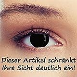 Schwarze Kontaktlinsen die Ihre Sicht deutlich einschränken