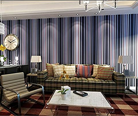Elegant vertical stripes wallpaper bedroom sofa living room TV background
