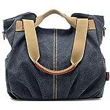 Nlyefa Borsa multifunzionale della spalla della borsa di grande capacità dell'annata della tela di canapa delle donne per il viaggio, il commercio, il partito 40cm * 12cm * 33cm