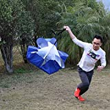 Forfar Widerstand-Fallschirm professionelle Adjust Geschwindigkeitstraining Widerstand Parachute Leistung Außen Running_Chute Übung Werkzeug Rot Blau