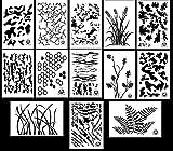 Acid Tactical® 13 Modelle - Camouflage Vinyl Airbrush Sprühfarbe Schablonen 35cm - ( Gras , Baumrinde , Digital, Multicam , Farn, Tiger Stripe , Hexacam , Gebrochene Erde , Eiche , Weizen, TACS )
